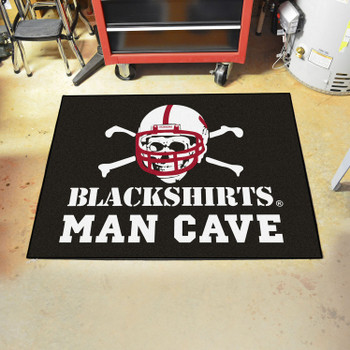 "33.75"" x 42.5"" University of Nebraska Black Man Cave All-Star Rectangle Mat"