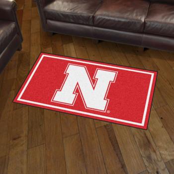 3' x 5' University of Nebraska Red Rectangle Rug