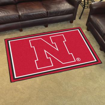 4' x 6' University of Nebraska Red Rectangle Rug