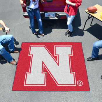 "59.5"" x 71"" University of Nebraska Red Tailgater Mat"