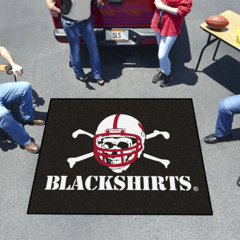"59.5"" x 71"" University of Nebraska Black Tailgater Mat"