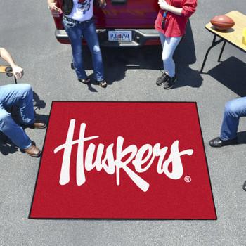 """59.5"""" x 71"""" University of Nebraska Huskers Logo Red Tailgater Mat"""