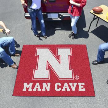 "59.5"" x 71"" University of Nebraska Red Man Cave Tailgater Rectangle Mat"
