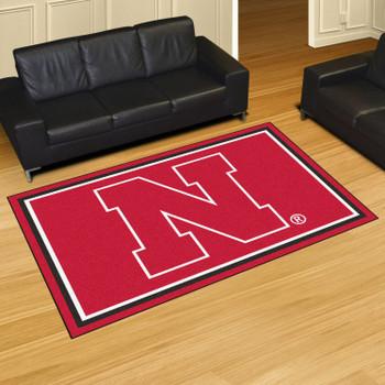 5' x 8' University of Nebraska Red Rectangle Rug
