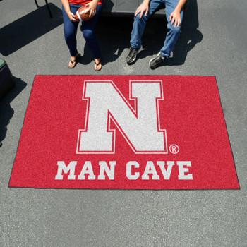"59.5"" x 94.5"" University of Nebraska Red Man Cave Rectangle Ulti Mat"