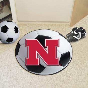 """27"""" University of Nebraska Soccer Ball Round Mat"""
