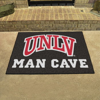 "33.75"" x 42.5"" University of Nevada, Las Vegas (UNLV) Man Cave All-Star Black Rectangle Mat"