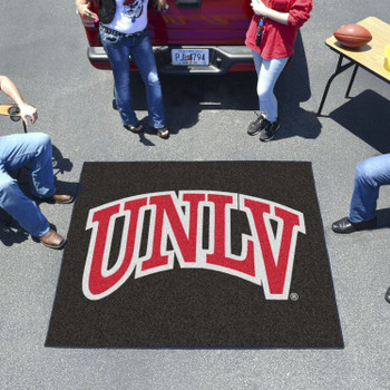 "59.5"" x 71"" University of Nevada, Las Vegas (UNLV) Black Tailgater Mat"