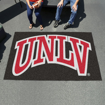 "59.5"" x 94.5"" University of Nevada, Las Vegas (UNLV) Black Rectangle Ulti Mat"