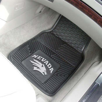 University of Nevada Heavy Duty Vinyl Front Black Car Mat, Set of 2