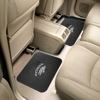University of Nevada Heavy Duty Vinyl Car Utility Mats, Set of 2