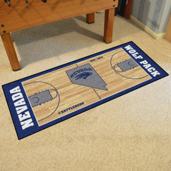 "30"" x 72"" University of Nevada NCAA Basketball Rectangle Runner Mat"