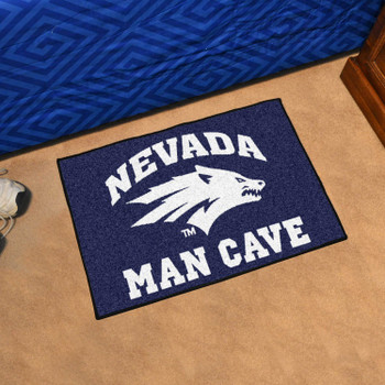 "19"" x 30"" University of Nevada Man Cave Starter Navy Blue Rectangle Mat"