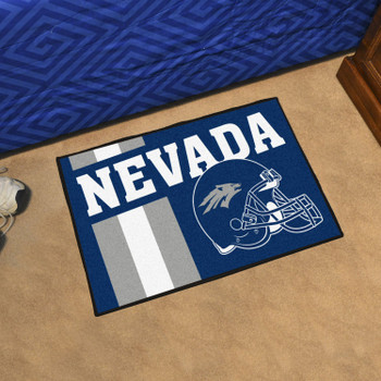 "19"" x 30"" University of Nevada Uniform Navy Blue Rectangle Starter Mat"