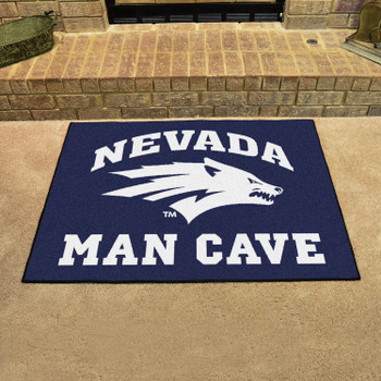 "33.75"" x 42.5"" University of Nevada Man Cave All-Star Navy Blue Rectangle Mat"