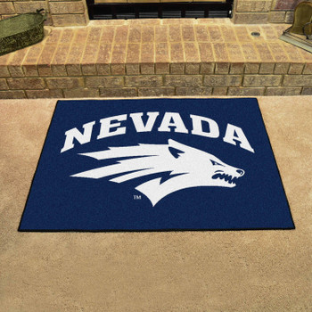 "33.75"" x 42.5"" University of Nevada All Star Navy Blue Rectangle Mat"