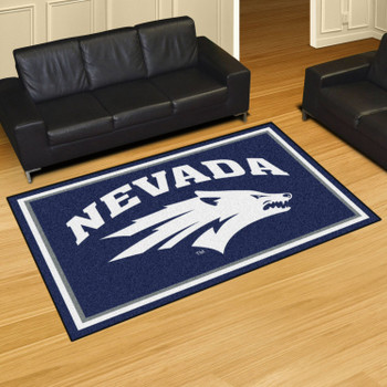 5' x 8' University of Nevada Navy Blue Rectangle Rug