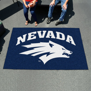 "59.5"" x 94.5"" University of Nevada Navy Blue Rectangle Ulti Mat"