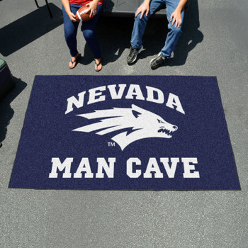 "59.5"" x 94.5"" University of Nevada Man Cave Navy Blue Rectangle Ulti Mat"
