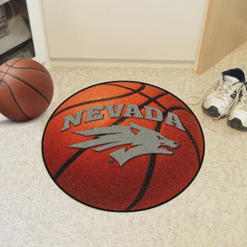 "27"" University of Nevada Basketball Style Round Mat"