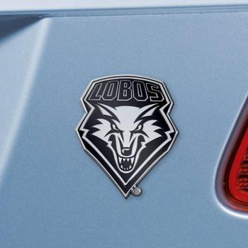 University of New Mexico Chrome Emblem, Set of 2