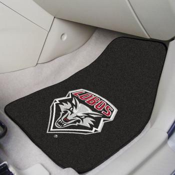 University of New Mexico Black Carpet Car Mat, Set of 2