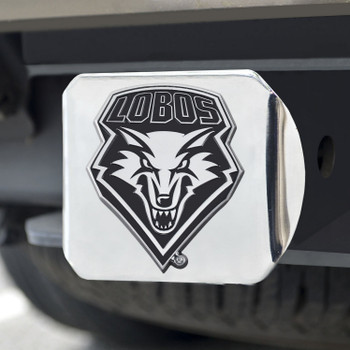 University of New Mexico Hitch Cover - Chrome on Chrome