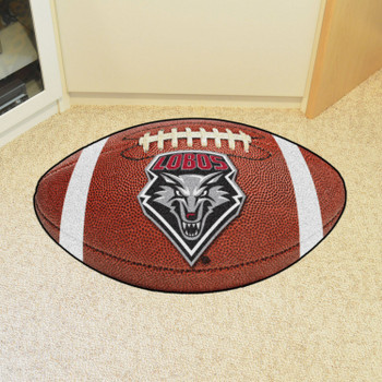 "20.5"" x 32.5"" University of New Mexico Football Shape Mat"