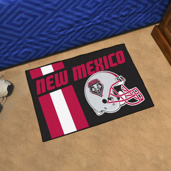 "19"" x 30"" University of New Mexico Uniform Black Rectangle Starter Mat"