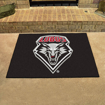 "33.75"" x 42.5"" University of New Mexico All Star Black Rectangle Mat"