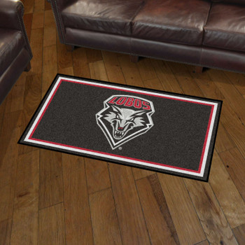3' x 5' University of New Mexico Black Rectangle Rug