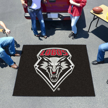 "59.5"" x 71"" University of New Mexico Black Tailgater Mat"