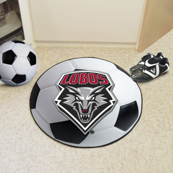 """27"""" University of New Mexico Soccer Ball Round Mat"""