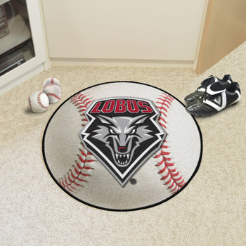 "27"" University of New Mexico Baseball Style Round Mat"
