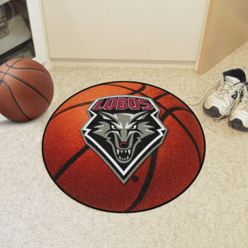 "27"" University of New Mexico Basketball Style Round Mat"