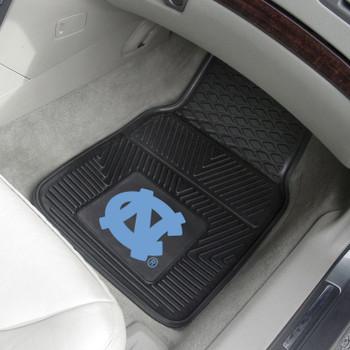 University of North Carolina Heavy Duty Vinyl Front Black Car Mat, Set of 2