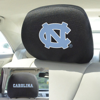 University of North Carolina Car Headrest Cover, Set of 2