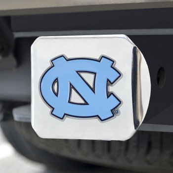 University of North Carolina Color Hitch Cover - Chrome