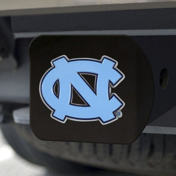 University of North Carolina Hitch Cover - Color on Black