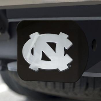 University of North Carolina Hitch Cover - Chrome on Black