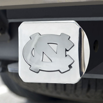 University of North Carolina Hitch Cover - Chrome on Chrome