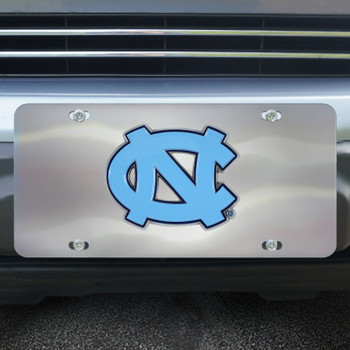 University of North Carolina Diecast Stainless Steel License Plate