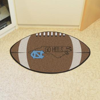 """20.5"""" x 32.5"""" University of North Carolina Southern Style Football Shape Mat"""