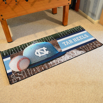 "30"" x 72"" North Carolina Baseball Style Rectangle Runner Mat"