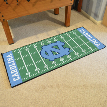 "30"" x 72"" University of North Carolina Football Field Rectangle Runner Mat"