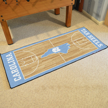 "30"" x 72"" University of North Carolina NCAA Basketball Rectangle Runner Mat"