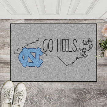 "19"" x 30"" University of North Carolina Southern Style Gray Rectangle Starter Mat"