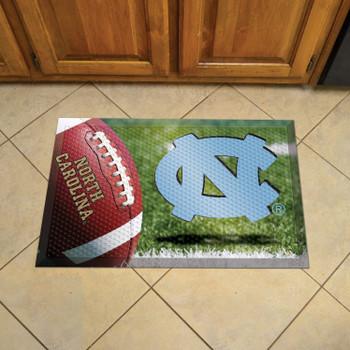 "19"" x 30"" University of North Carolina Rectangle Scraper Mat - ""NC"" Logo"