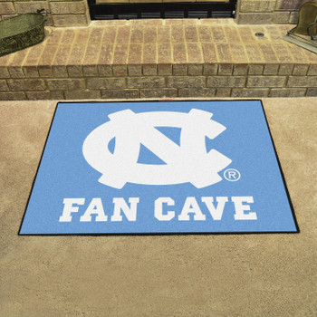 University of North Carolina Fan Cave All-Star Blue Rectangle Mat