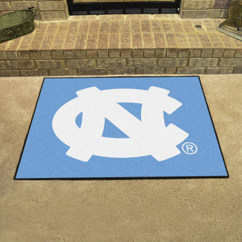 "33.75"" x 42.5"" University of North Carolina All Star Blue Rectangle Mat"